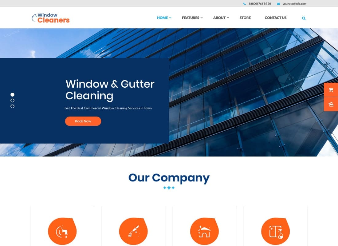 AC Services | Air Conditioning and Heating Company WordPress Theme Website Template