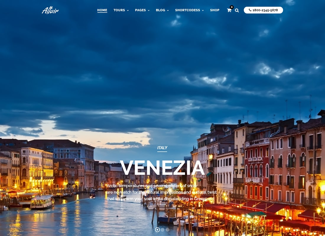 Travel Tour | Altair WordPress for Travel Website Template