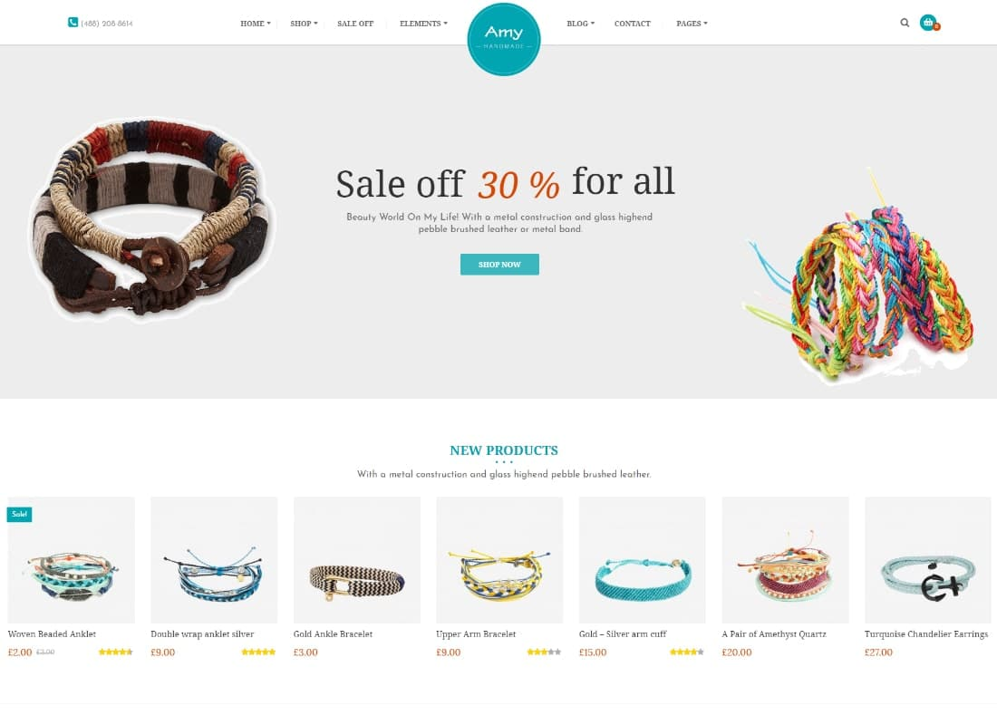 Amy Handmade | Blog and Shop WordPress Theme Website Template