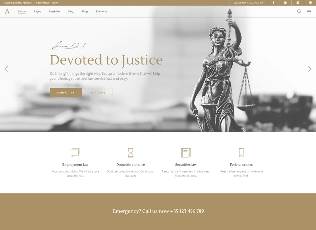 Anwalt - A Lawyer and Law Office Theme Website Template