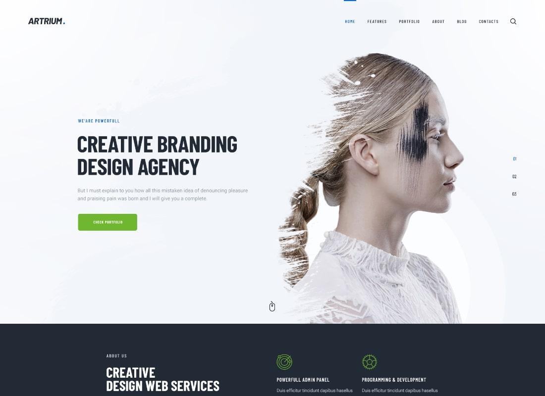 Artrium   Creative Agency & Web Studio WordPress Theme Website Template