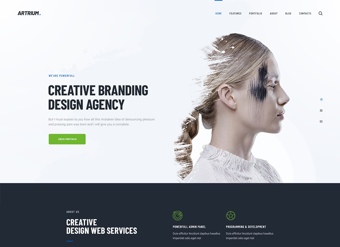 Artrium | Creative Agency & Web Studio WordPress Theme Website Template