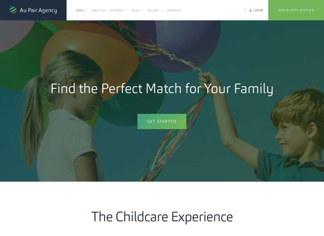 Au-Pair - Babysitting & Nanny Agency WordPress Theme Website Template