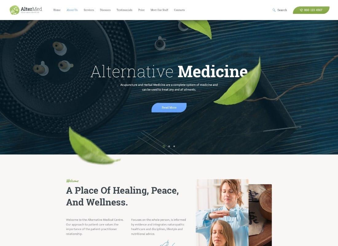 Avicenna | Alternative Medicine WordPress Theme Website Template