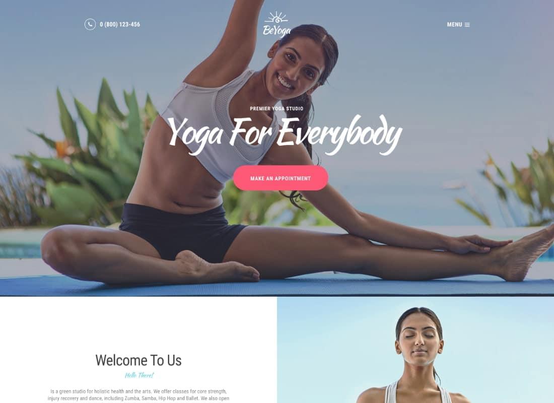 BeYoga   Yogastudio & Gym WordPress Theme Website Template