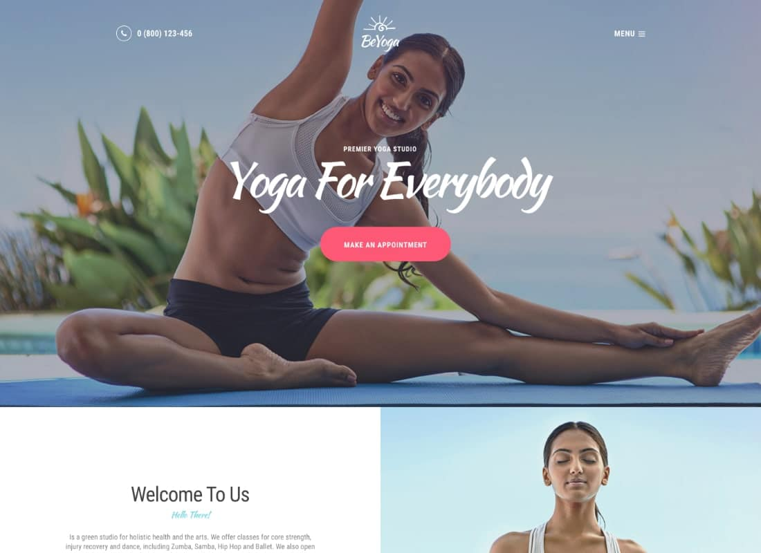 BeYoga | Yogastudio & Gym WordPress Theme Website Template