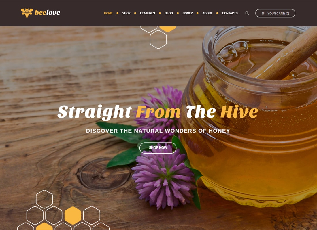 Beelove - Honey Production and Online Store WordPress Theme   Website Template