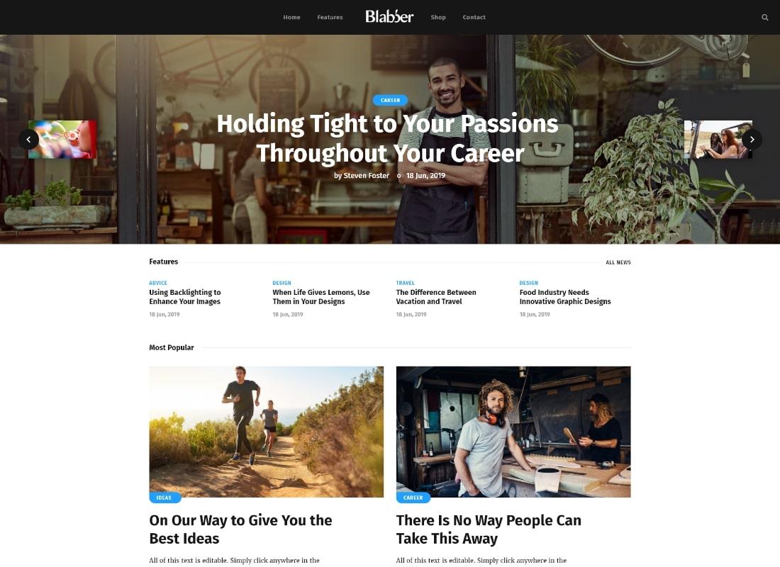 Blabber | All-in-One Elementor Blog & News Magazine WordPress Theme + RTL Website Template