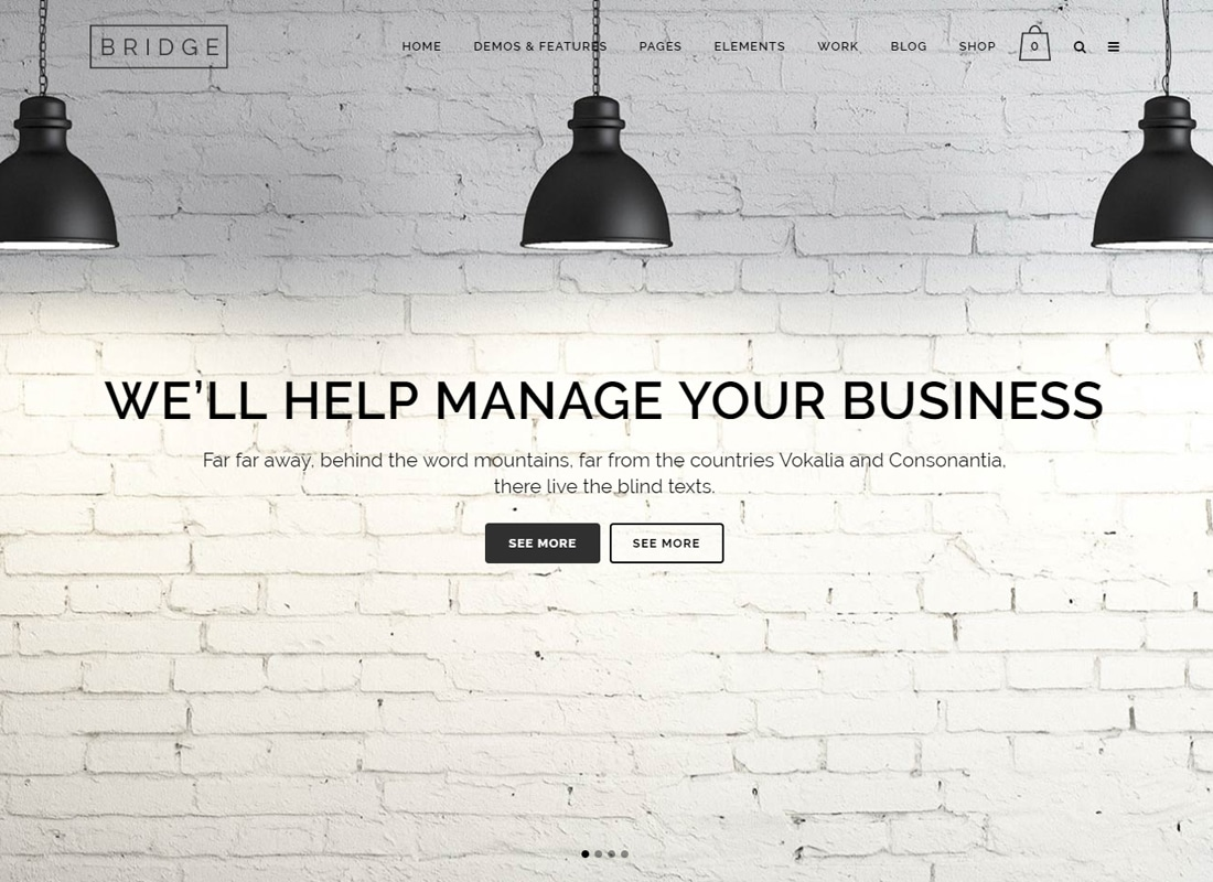 Bridge - Creative Multi-Purpose WordPress Theme Website Template