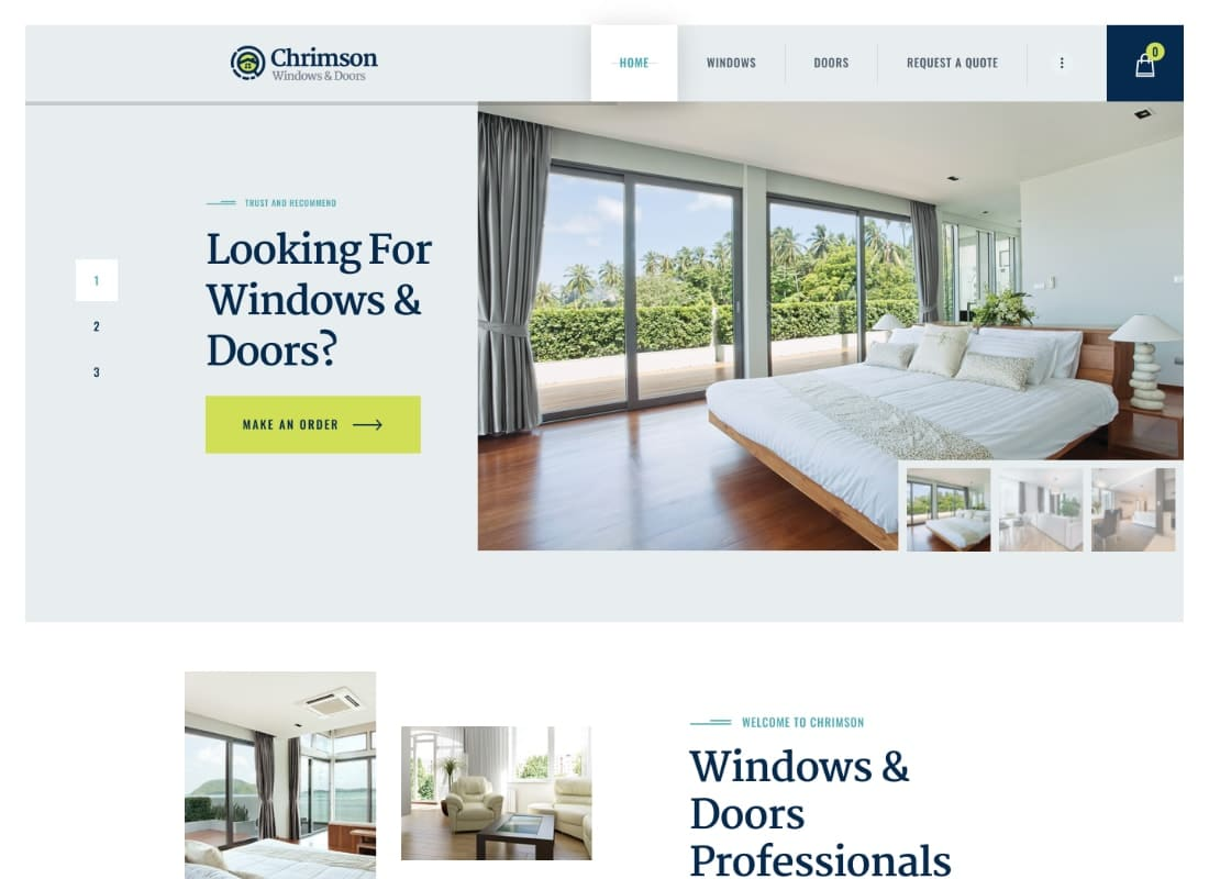 Chrimson | Windows & Doors Services WordPress Theme Website Template