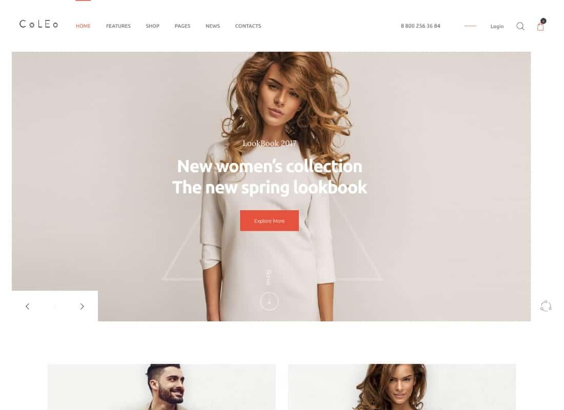 Coleo | A Stylish Fashion Clothing Store WordPress Theme Website Template