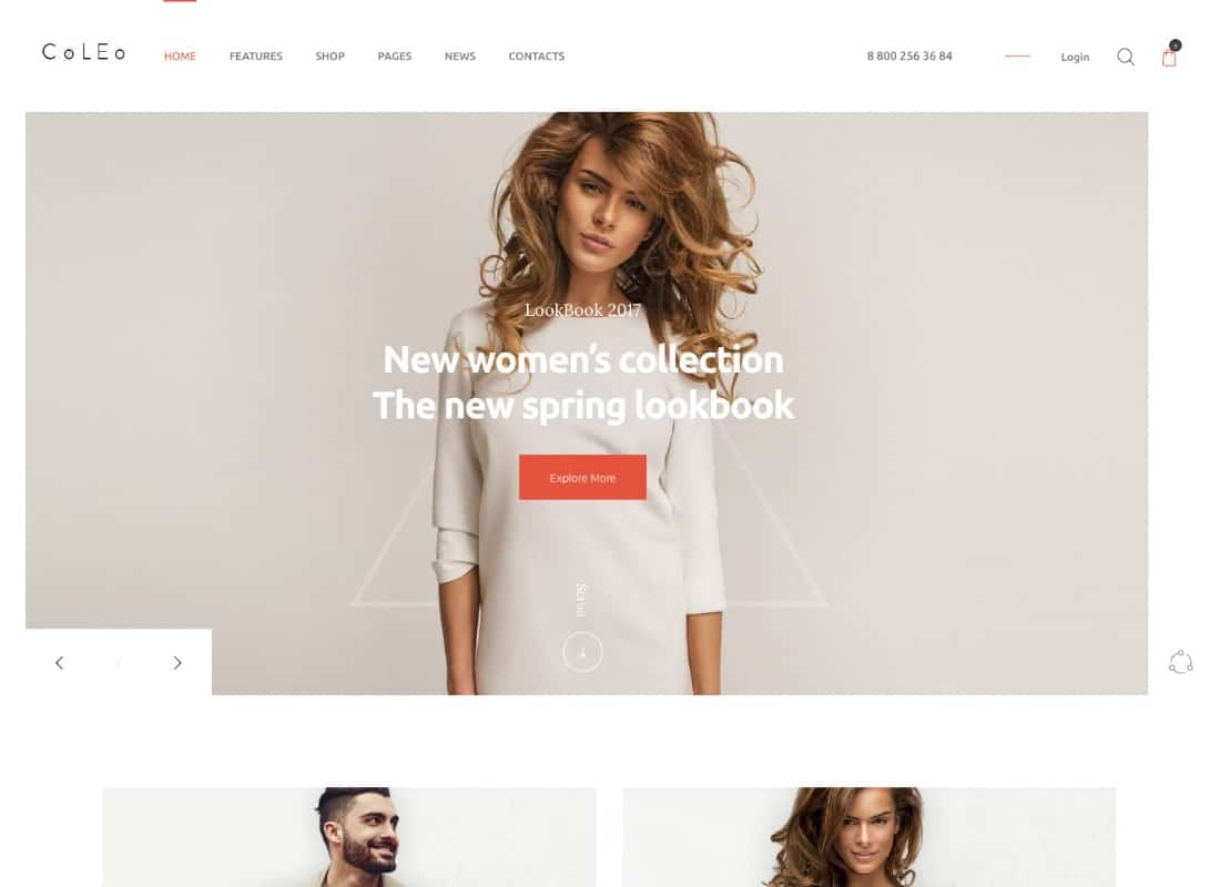 Coleo | A Stylish Fashion Clothing Store WordPress Theme Website Template