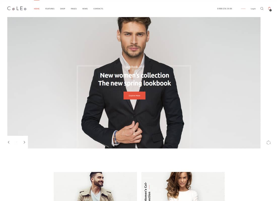 Coleo - A Stylish Fashion Clothing Store WordPress Theme   Website Template