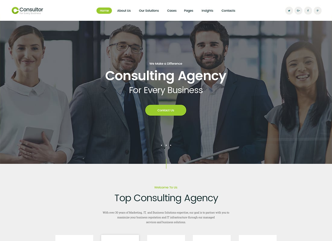 Consultor | A Business Consulting WordPress Theme   Website Template