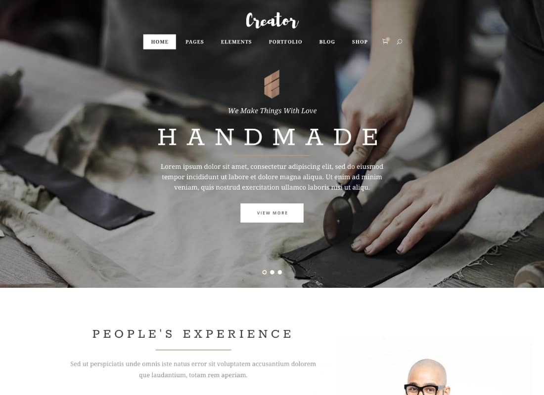 Creator | A Refined Theme for Handmade Artisans, Businesses & Shops Website Template