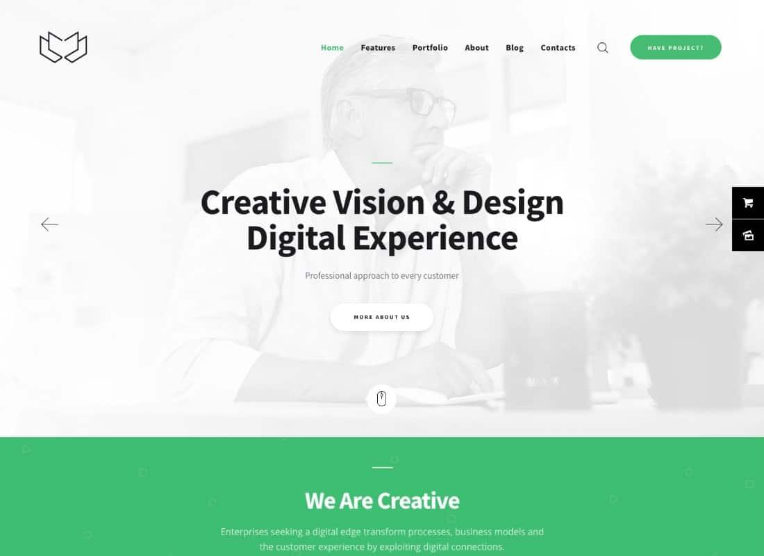 Deviox   A Trendy Multi-Purpose Business WordPress Theme Website Template