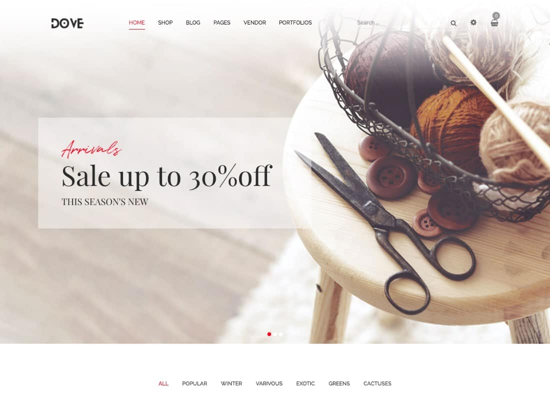 Dove | Handmade Furniture Responsive WooCommerce WordPress Theme Website Template