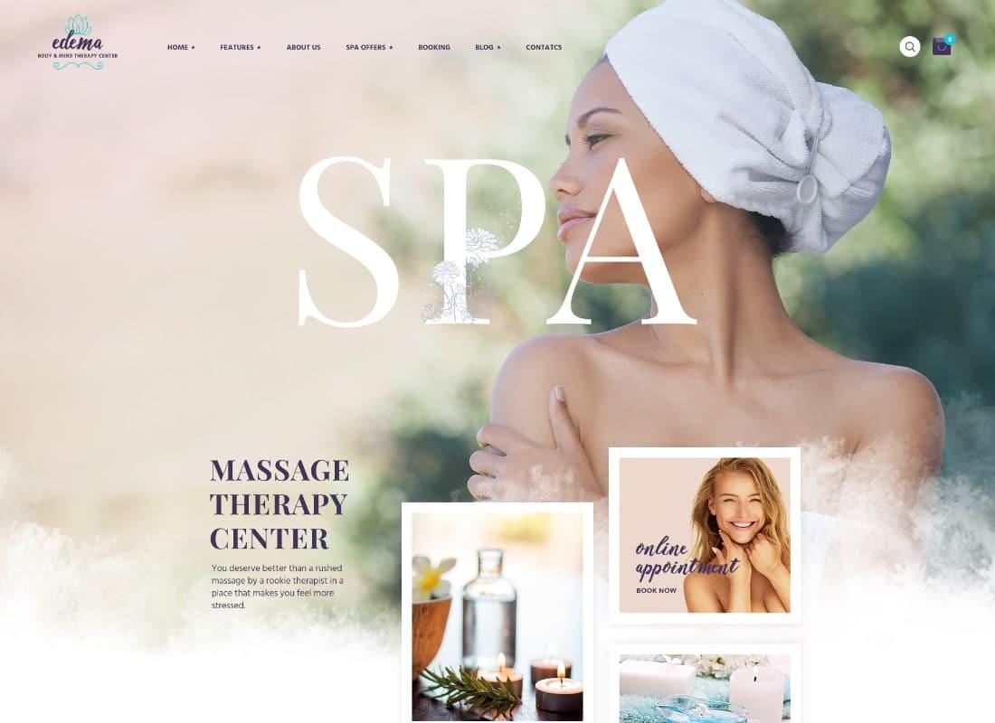 Edema | Wellness & Spa WordPress Theme Website Template