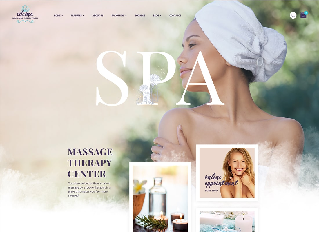Edema - Wellness & Spa WordPress Theme   Website Template