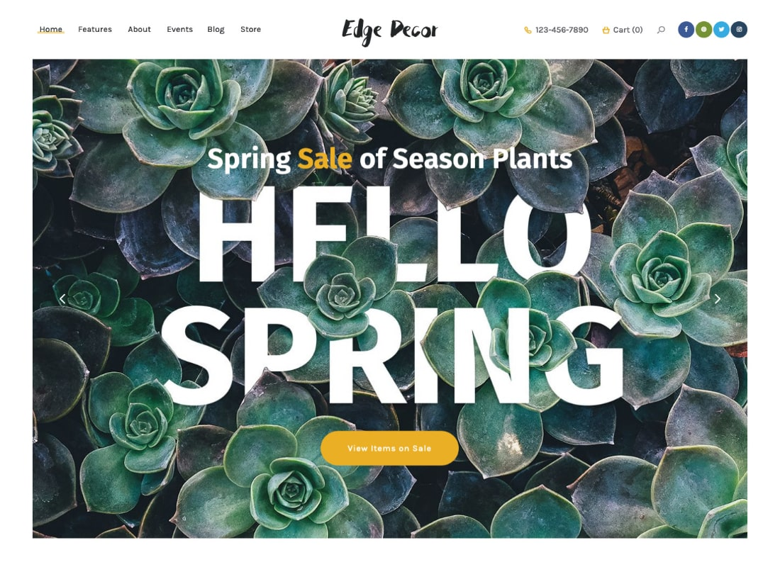 Edge Decor | A Modern Gardening & Landscaping WordPress Theme Website Template