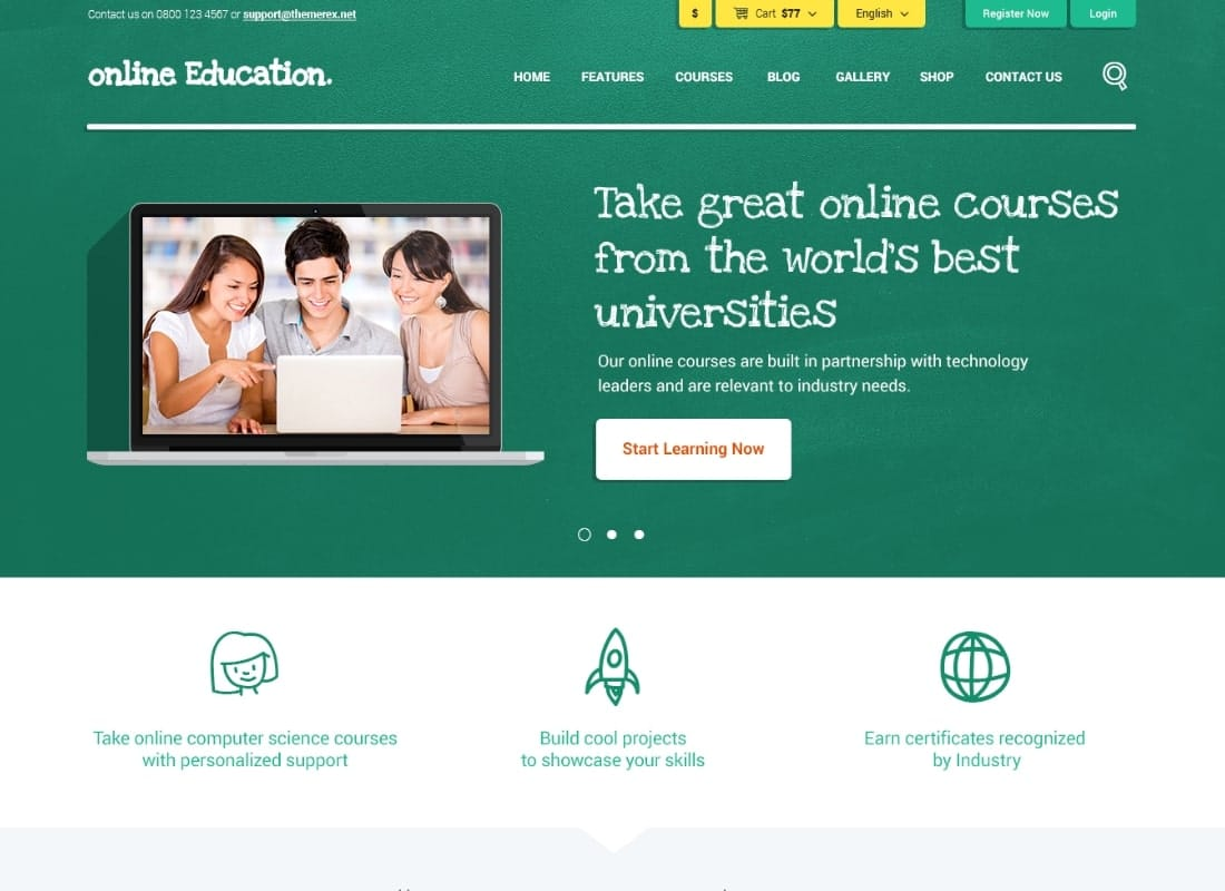 Online Education | PSD Template Website Template
