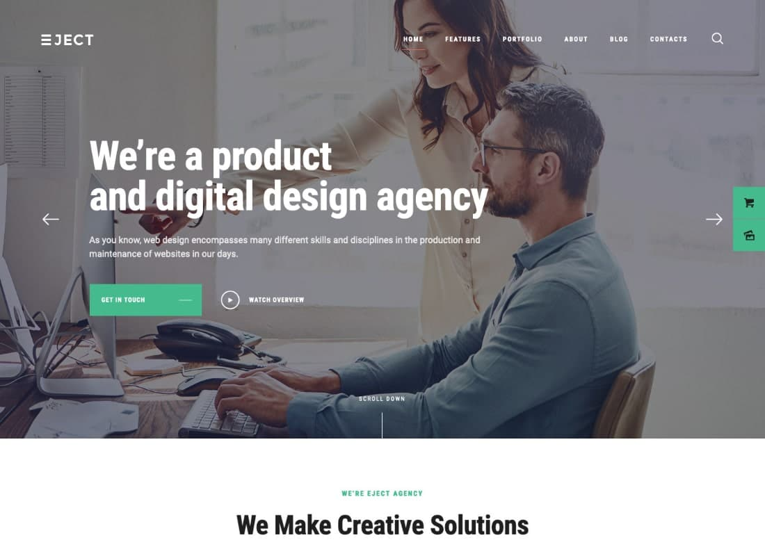 Eject | Web Studio & Creative Agency WordPress Theme Website Template