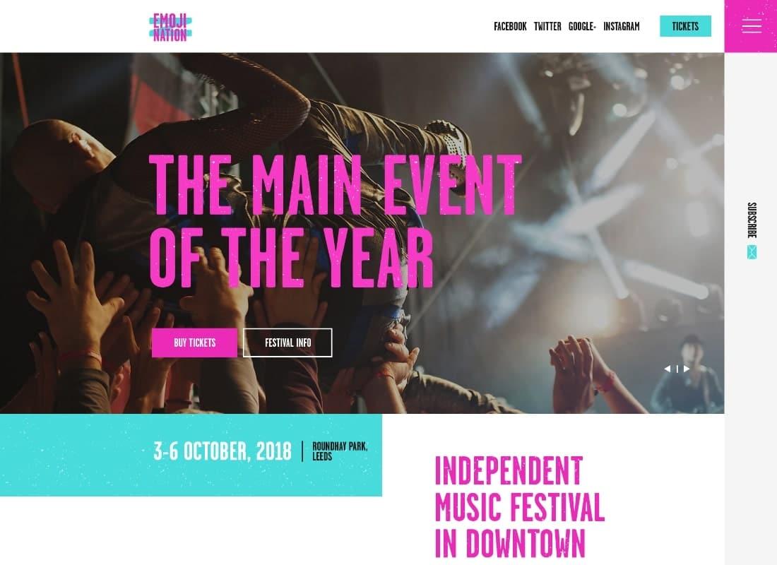 EmojiNation   Night Club & Concert Event WordPress Theme Website Template
