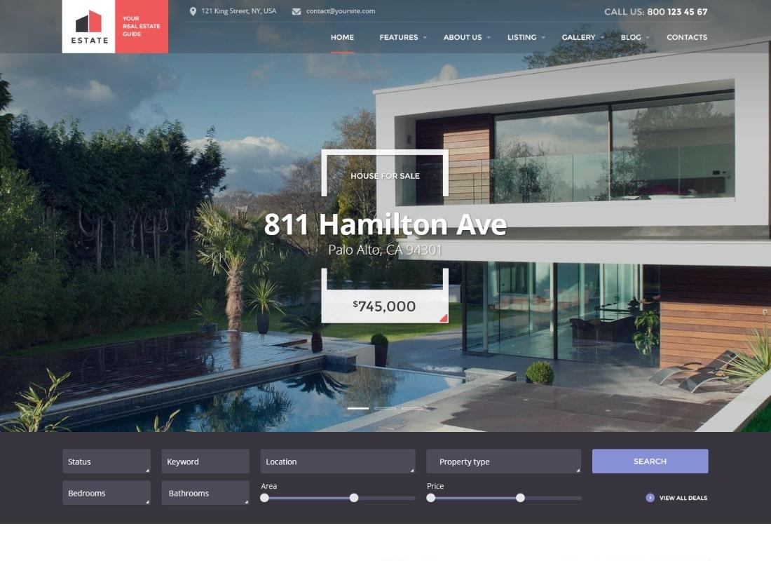 Estate - Property Sales & Rental WordPress Theme + RTL Website Template