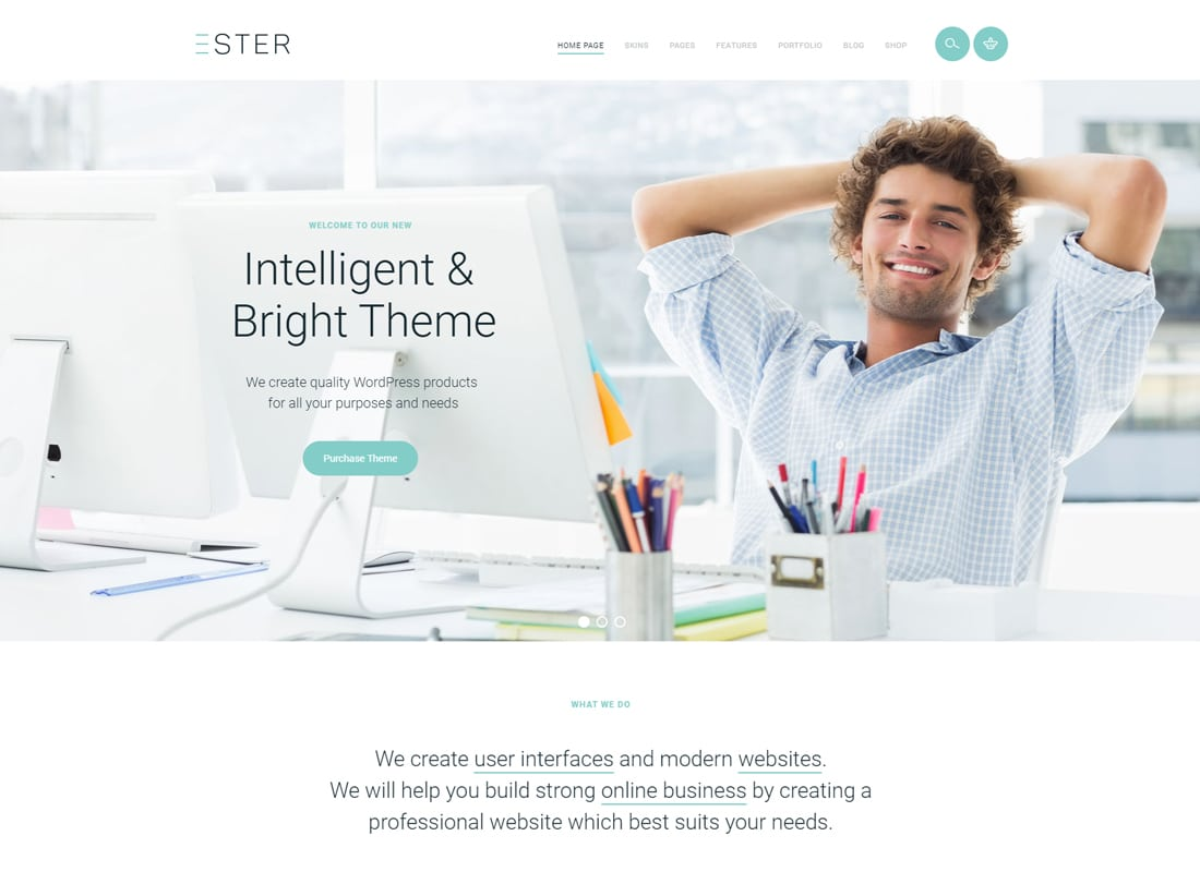 Ester - A Stylish Multipurpose WordPress Theme Website Template