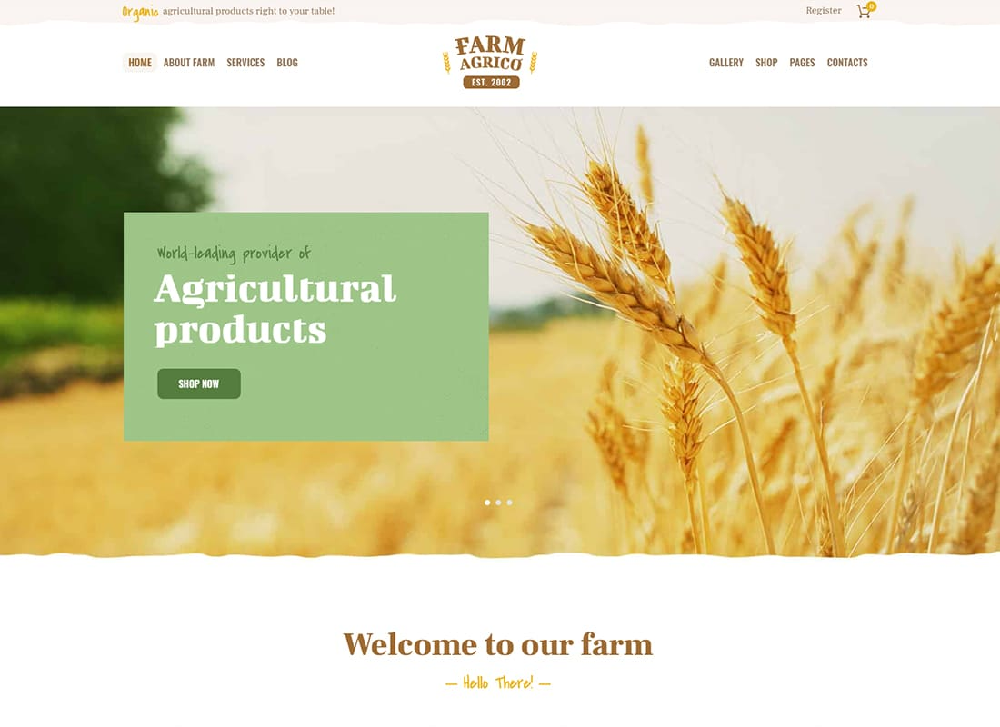 Farm Agrico - Agricultural Business WordPress Theme   Website Template