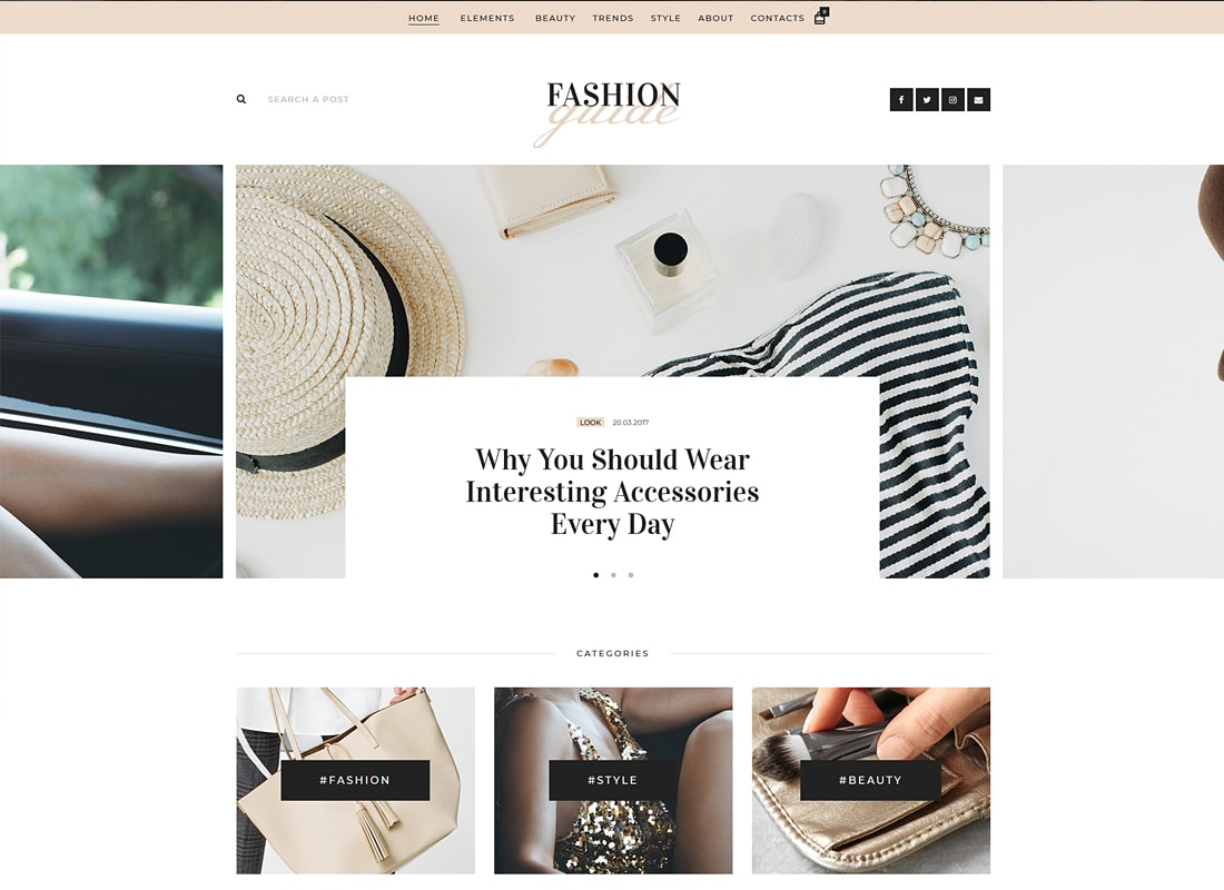 Fashion Guide - Online Magazine & Lifestyle Blog WordPress Theme Website Template