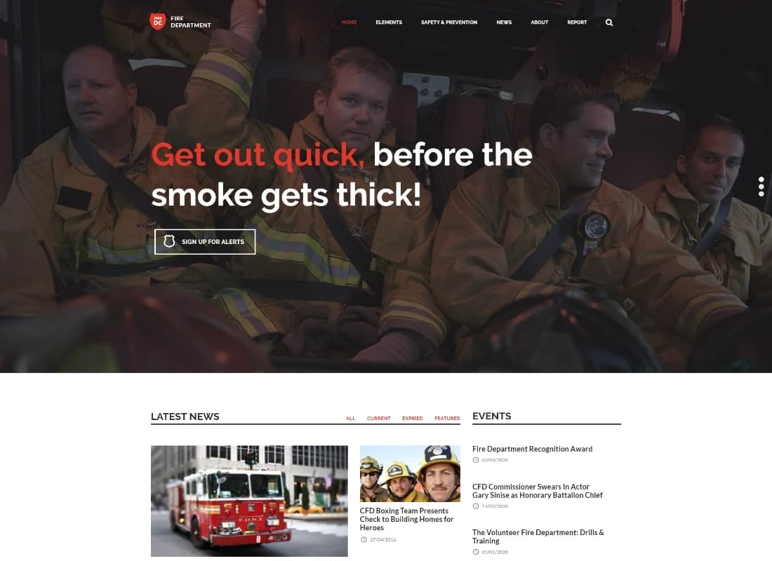 Fire Department - FD Station and Security WordPress Theme Website Template