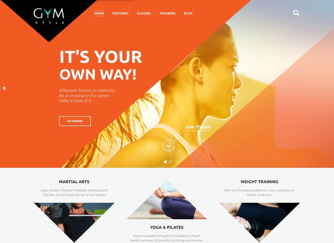 GYM | Sports Clothing & Equipment Store WordPress Theme Website Template
