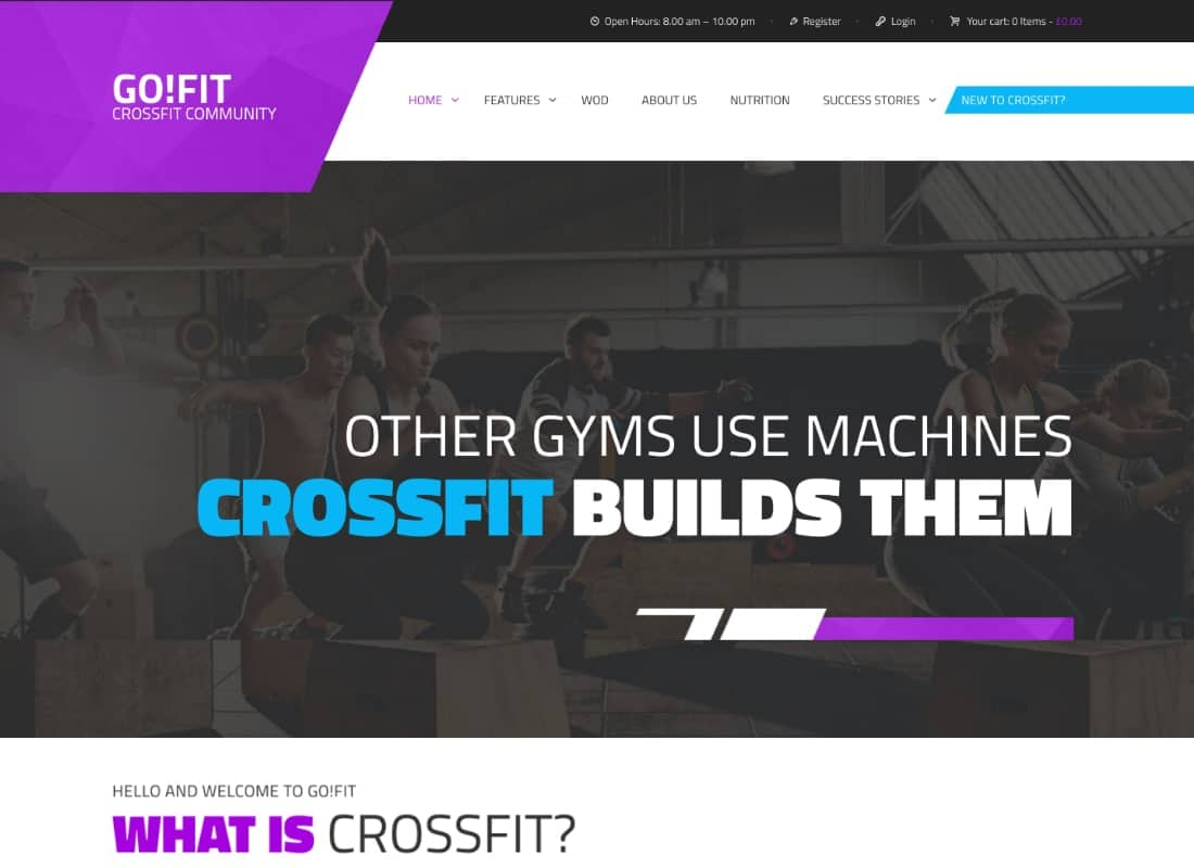 GoFit! | Fitness, Gym, and Crossfit WordPress Theme Website Template