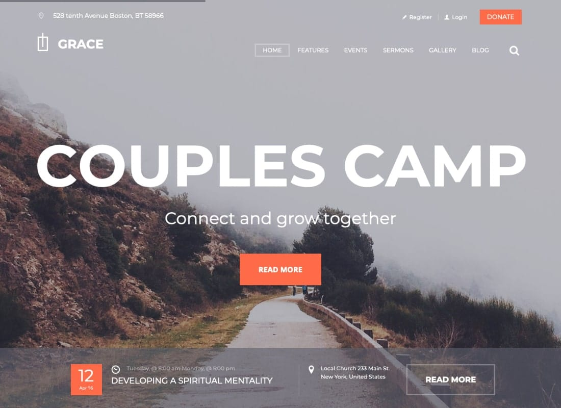 Grace - Church & Religion WordPress Theme Website Template