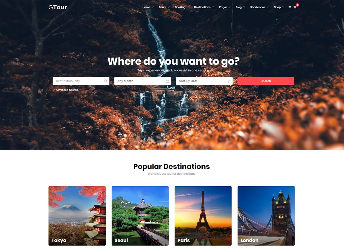 Grand Tour | Tour Travel WordPress for Travel and Tour Website Template