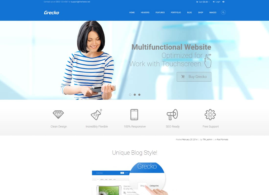 Grecko | A Clean Multipurpose WordPress Theme Website Template