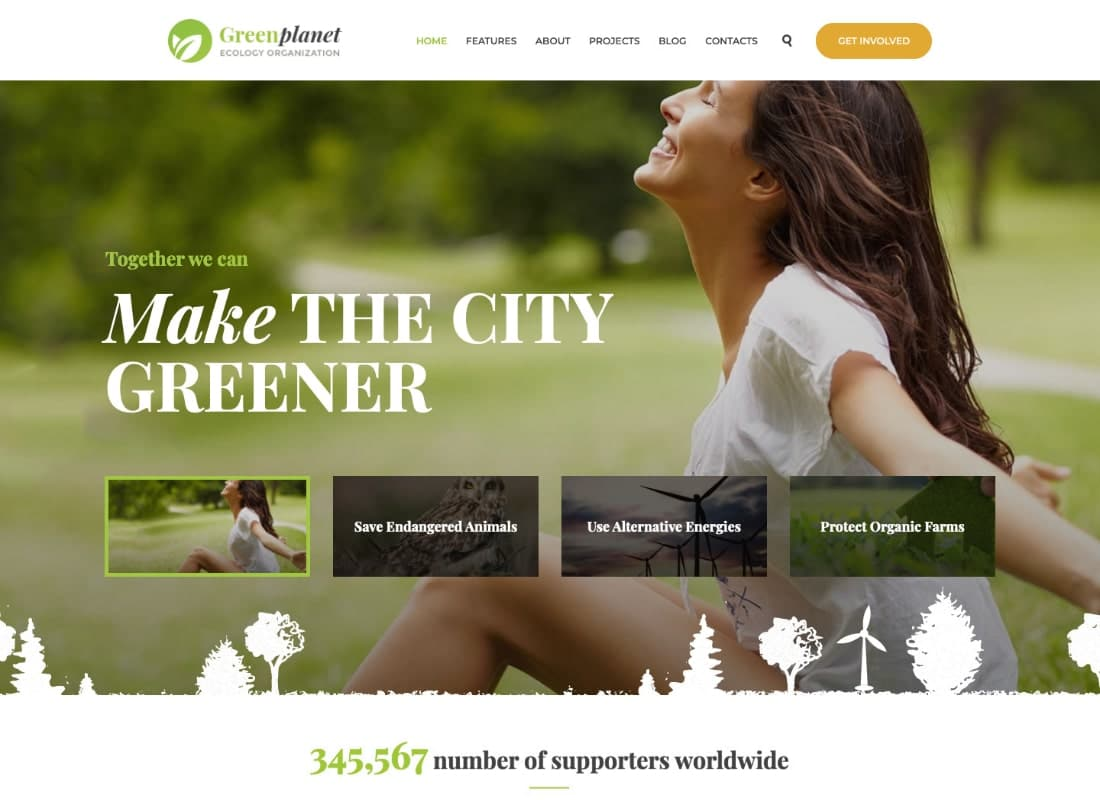 Green Planet | Environmental Non-Profit Organization WordPress Theme Website Template