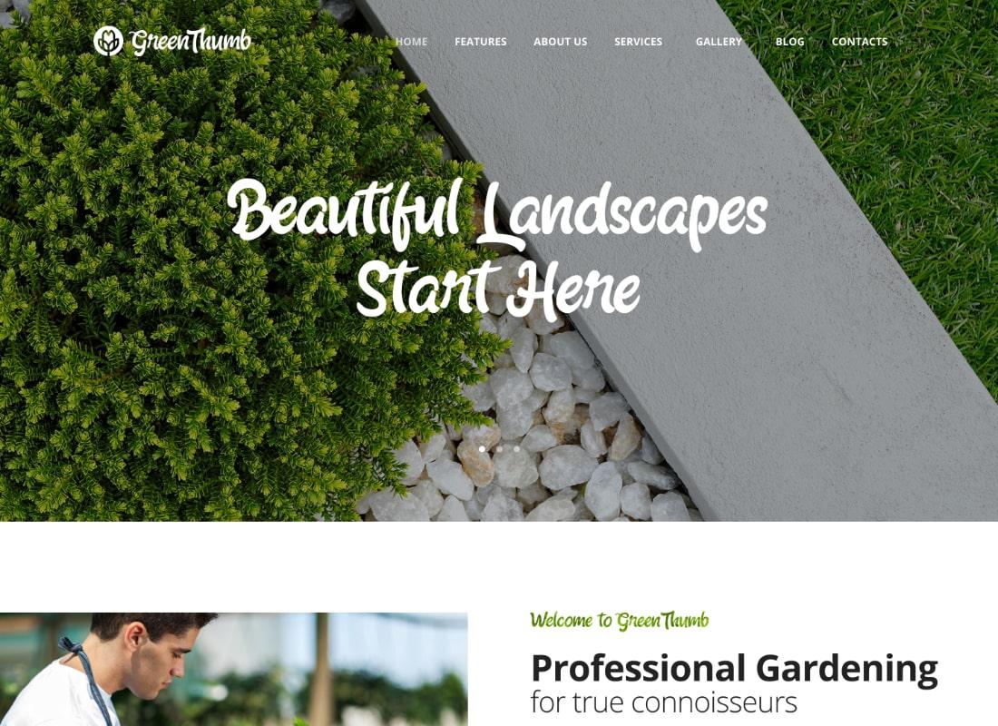 Green Thumb | Gardening & Landscaping Services WordPress Theme Website Template