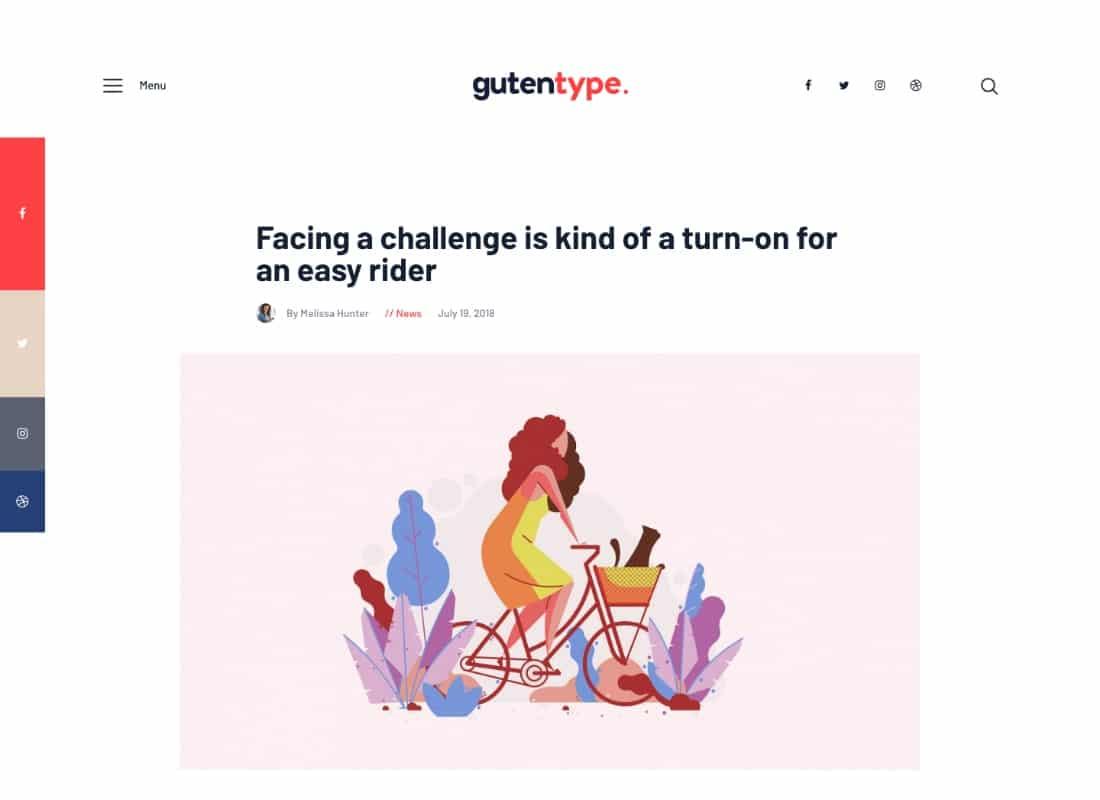 Gutentype   100% Gutenberg WordPress Theme for Modern Blog + Elementor  Website Template