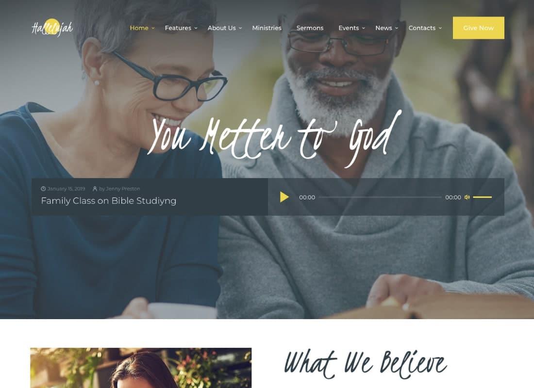 Hallelujah | Church & Religion WordPress Theme Website Template