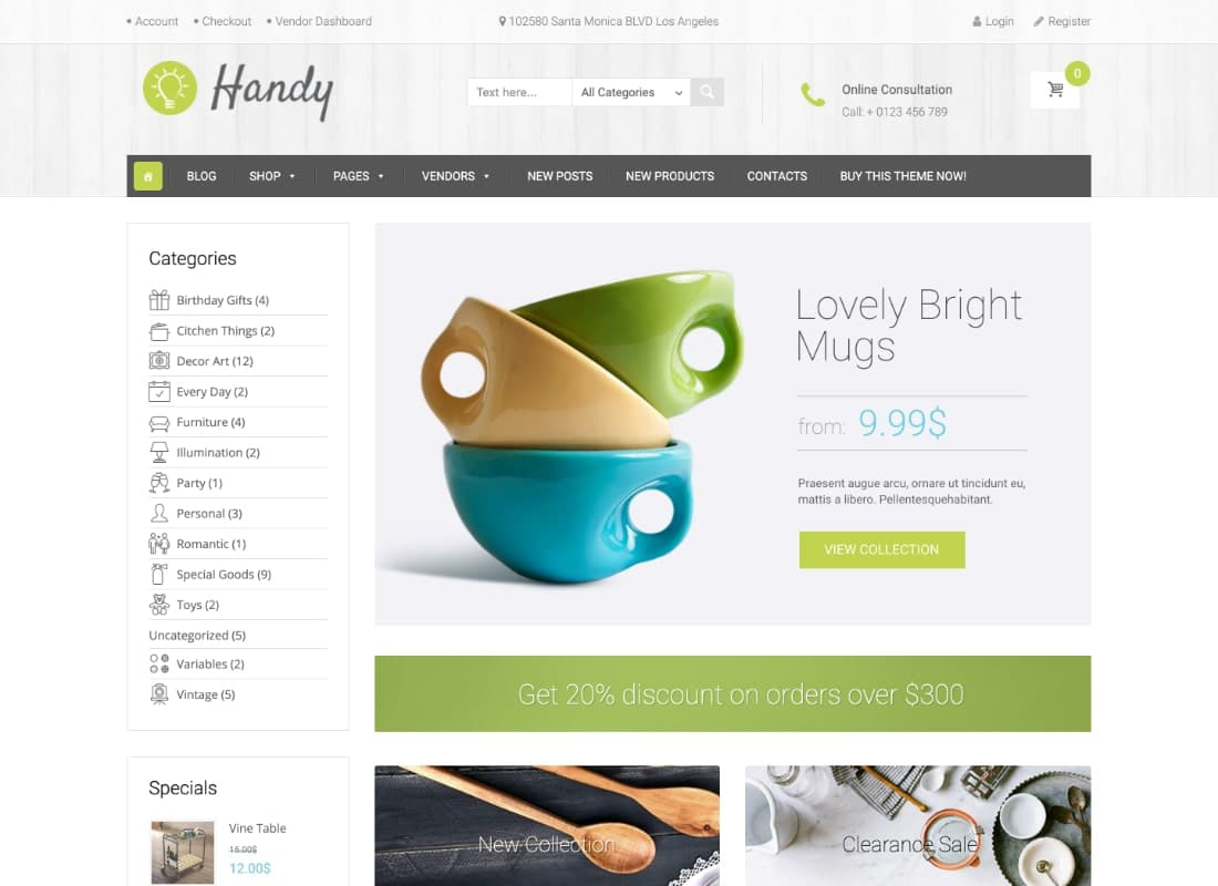 Handy | Handmade Shop WordPress WooCommerce Theme Website Template