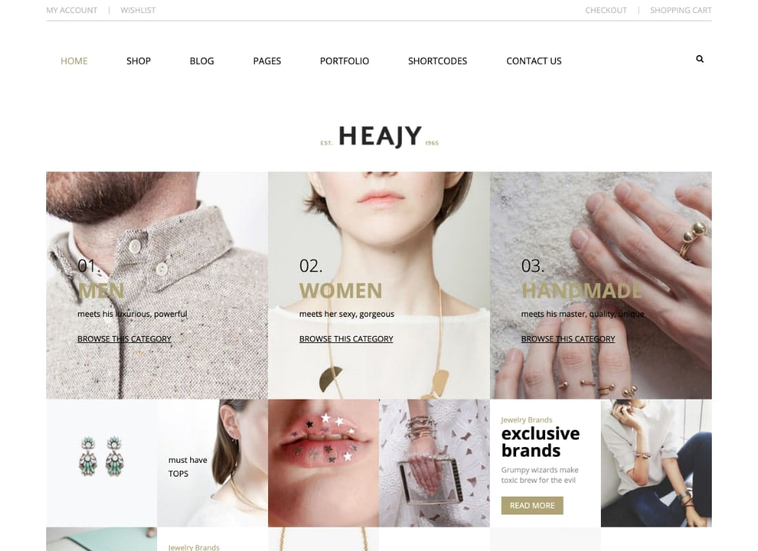 Heajy | Handmade Fashion WordPress Theme Website Template