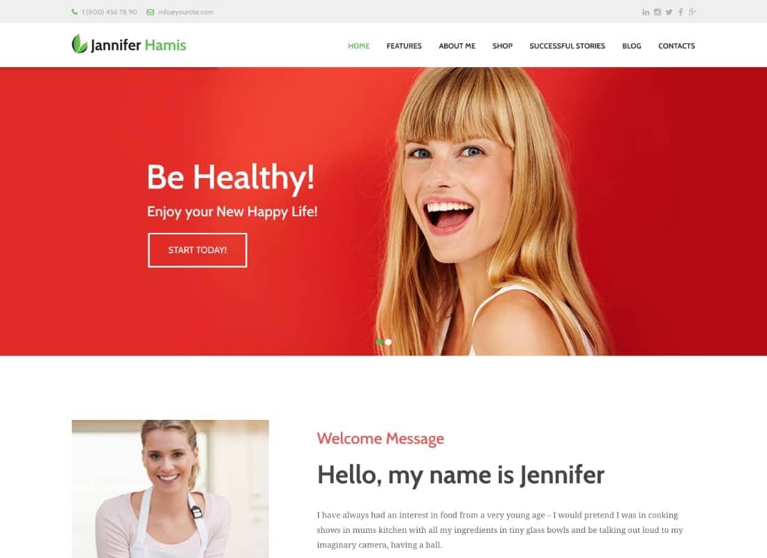 Health Coach Blog & Lifestyle Magazine WordPress Theme  Website Template