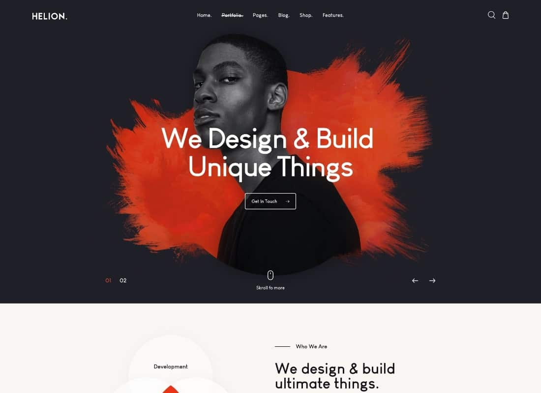 Helion | Personal Creative Portfolio WordPress  Theme + Store Website Template