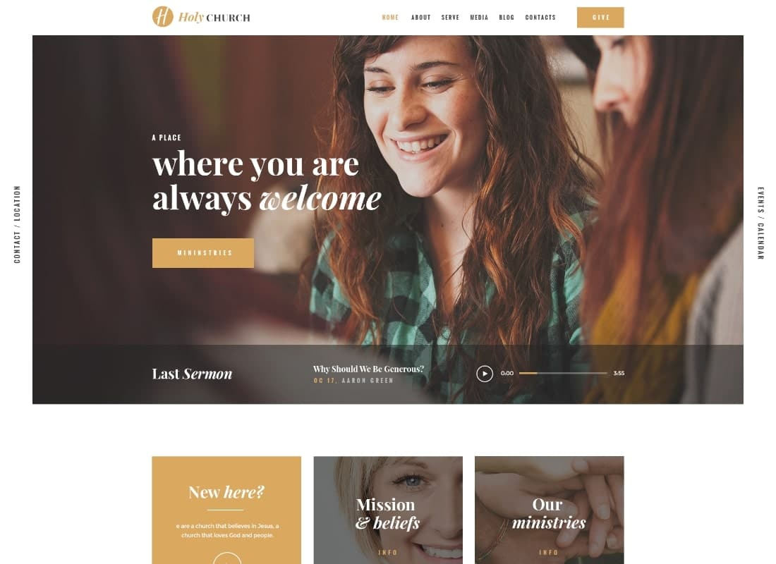 Holy Church | Religion, Charity & Nonprofit WordPress Theme Website Template