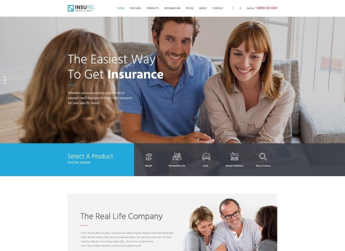 InsuRel   Insurance & Finance WordPress Theme Website Template