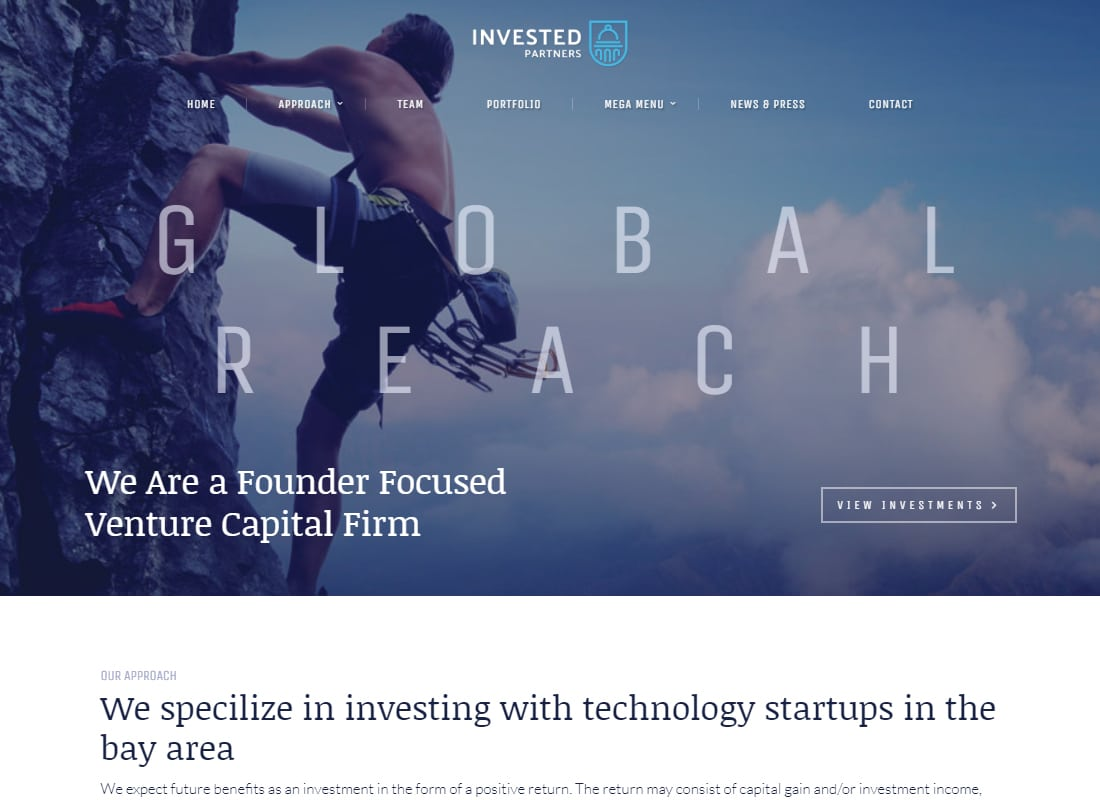 Invested - Venture Capital & Investment Theme   Website Template
