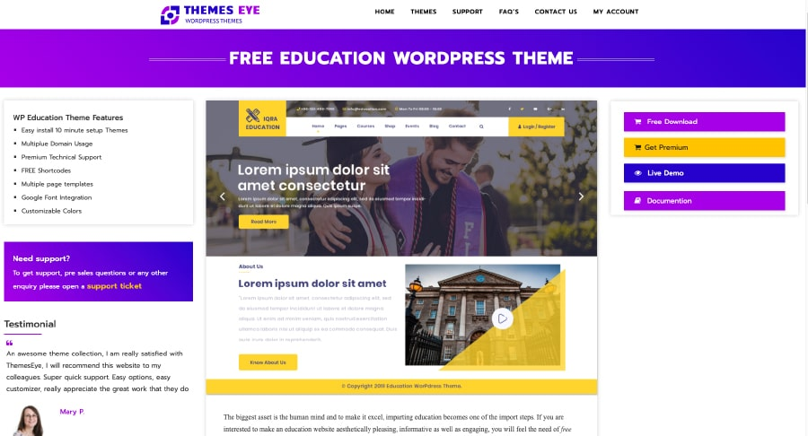 Iqra Education Free Website Template
