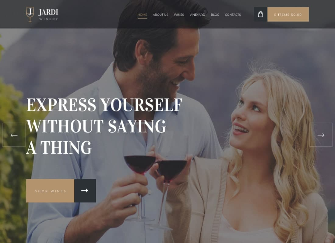 Jardi | Winery, Online Delivery Vineyard & Wine Shop WordPress Theme Website Template